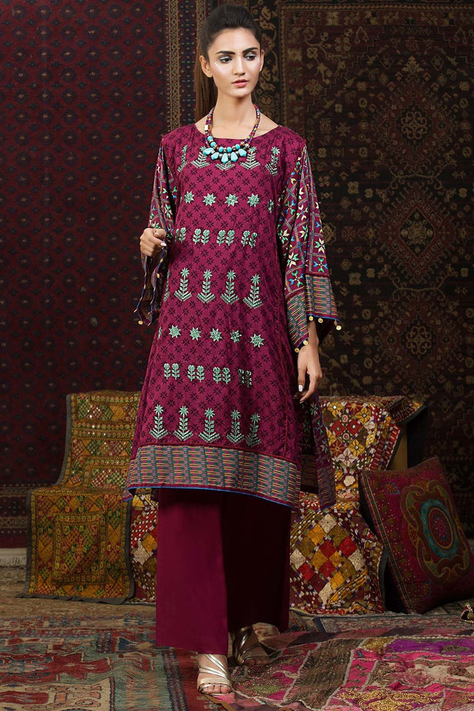 Warda Designer Collection - Single Shirt Linen Embroidery 1308823