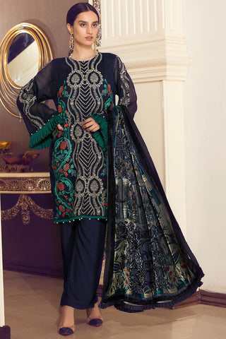 Warda Designer Collection - Blue Blooms 3818968