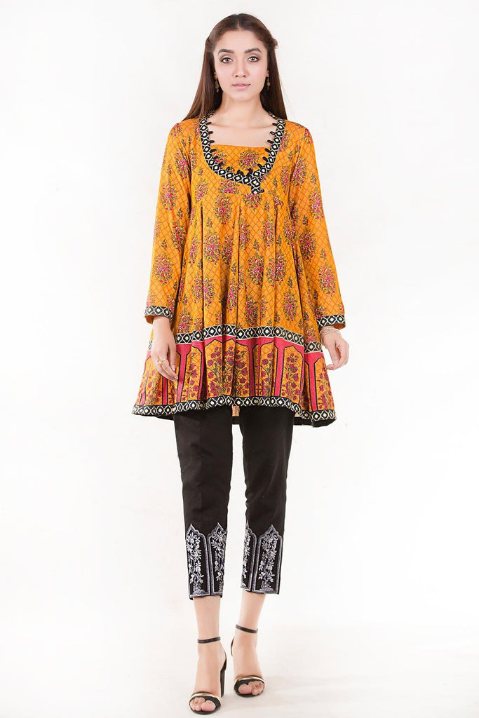 Warda Designer Collection - Stitched Single Shirt Silk Karandi Print LW18665