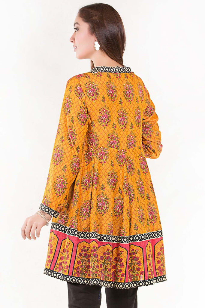 Stitched Single Shirt Silk Karandi Print LW18665 - Pret - Warda Designer Collection