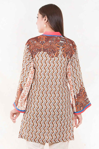 Stitched Single Shirt Silk Karandi Print LW18669