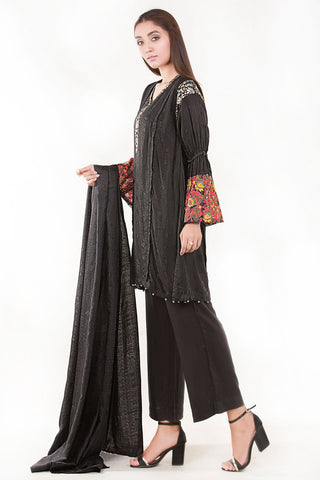 Stitched 3PC Jacquard Embroidery LW17612