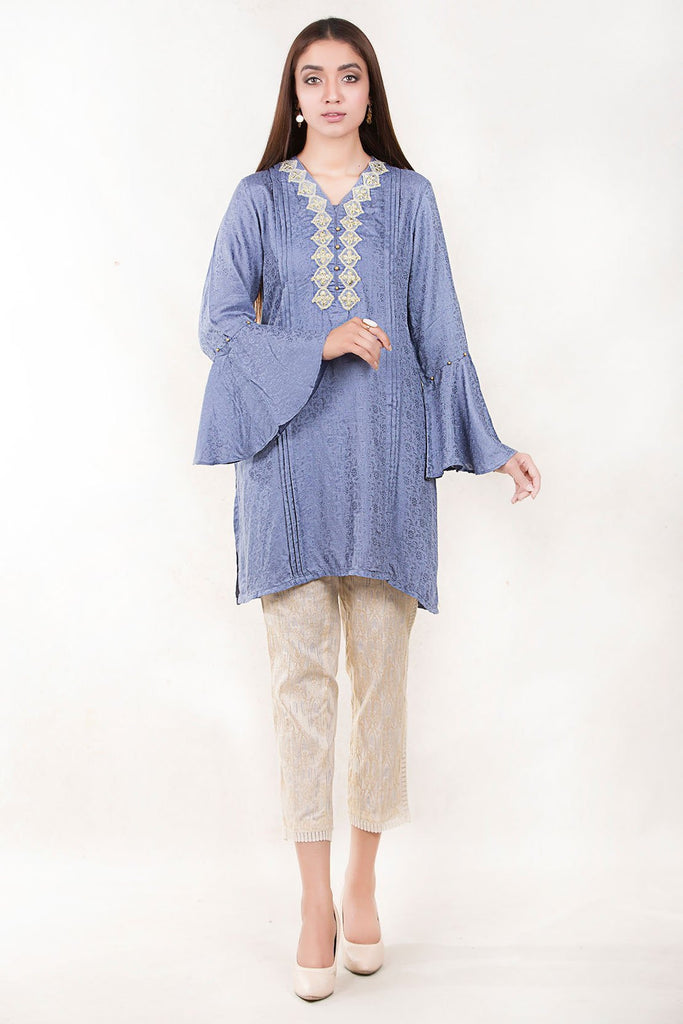 Warda Designer Collection - Stitched Single Shirt Jacquard with Embroidery LW17615