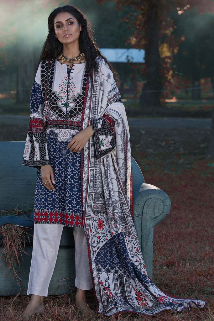 Warda Designer Collection - 2PC Khaddar Print 255852A