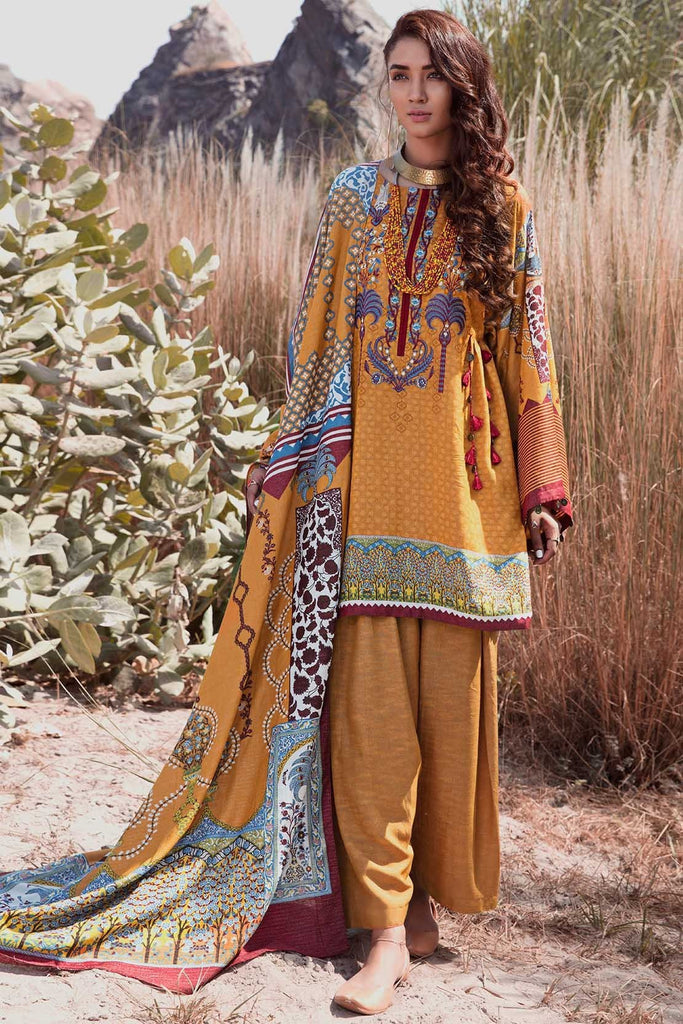 Warda Designer Collection - 2PC Silk Karandi Embroidery 2558914