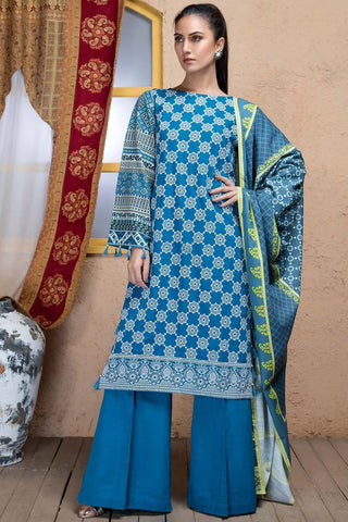 Warda Designer Collection - 3PC Khaddar Chikan Kari 3818840