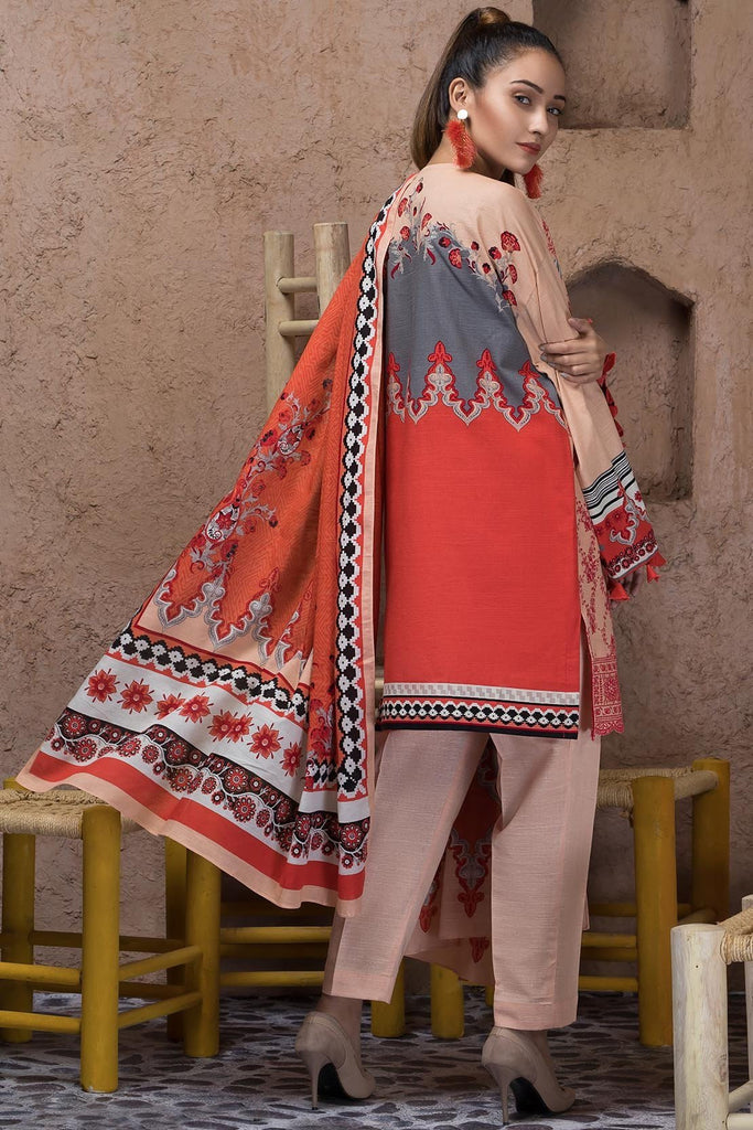 3PC Khaddar Chikan Kari 3818842 - Unstitched - Warda Designer Collection