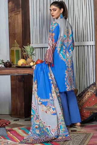 Unstitched - 3PC Khaddar Print 388855A - Warda Designer Collection