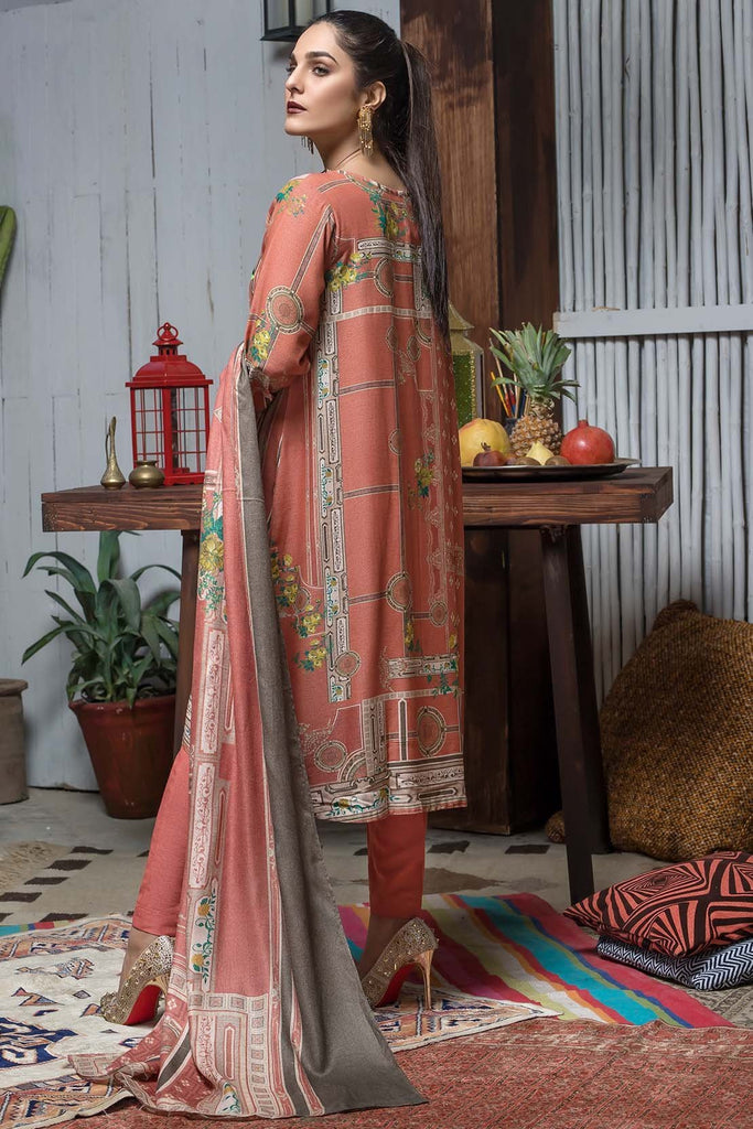 3PC Silk Karandi Embroidery with Shawl 3818930 - Unstitched - Warda Designer Collection