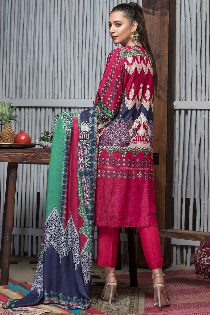 Warda Designer Collection - 3PC Silk Karandi Embroidery with Shawl 3818928