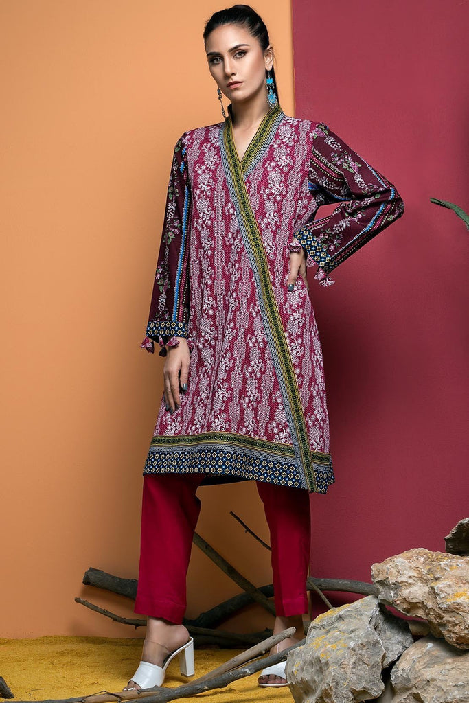 Warda Designer Collection - Single Shirt Khaddar Chikan Kari with Print 1308900