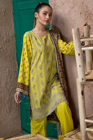 Warda Designer Collection - 3PC Silk Karandi Chikan Kari 3818935