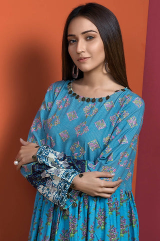 Single Shirt Silk Karandi Chikan Kari with Print 1308959