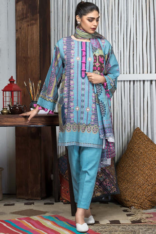 Warda Designer Collection - 3PC Khaddar Print 388856A