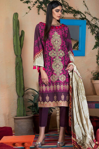 Warda Designer Collection - 3PC Khaddar Embroidery 3818830