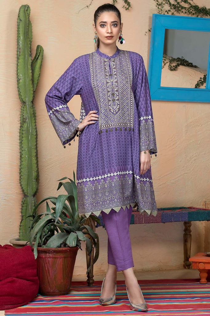 Warda Designer Collection - Single Shirt Silk Karandi Embroidery 1308951