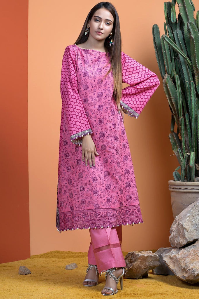 Warda Designer Collection - Single Shirt Khaddar Chikan Kari with Print 1308899