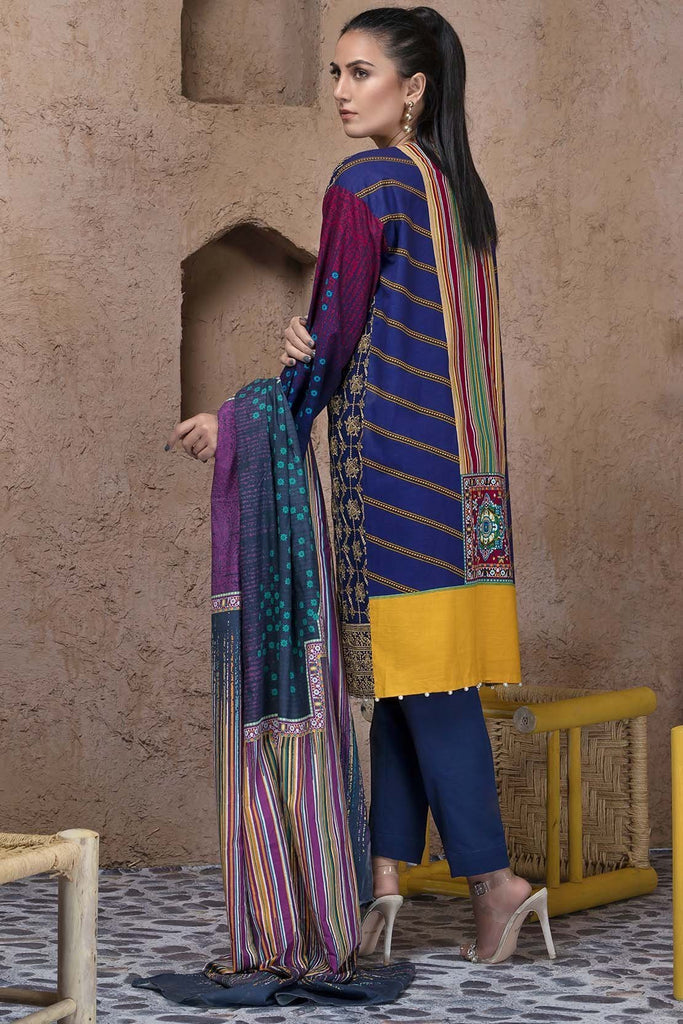 Warda Designer Collection - 2PC Khaddar Chikan Kari 2558870