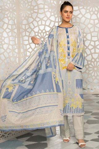 Warda Designer Collection - 3PC Lawn Embroidery 389239A