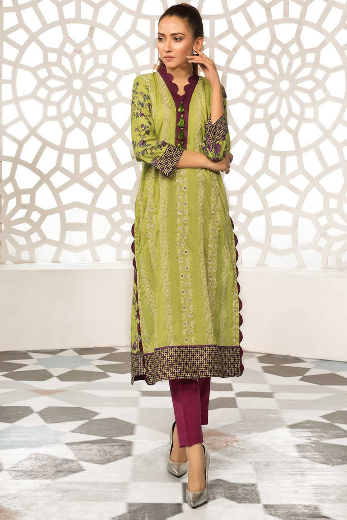 Warda Designer Collection - Single Shirt Lawn Chikan Kari with Print 1309330
