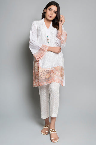 Warda Designer Collection - Semi Formal Shirt Solid Embroidery LPS1812