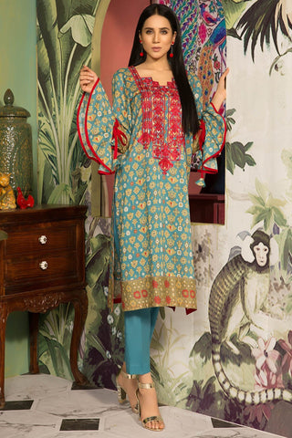 Warda Designer Collection - Single Shirt Lawn Embroidery 1309133