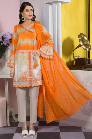 Warda Designer Collection - 2PC Lawn Shirt with Jacquard Dupatta 2559166