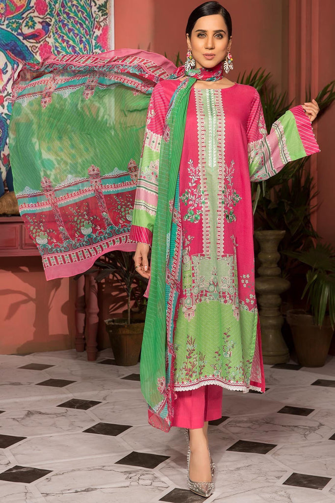 Warda Designer Collection - 2PC Lawn Embroidery with Chiffon Dupatta 259020A