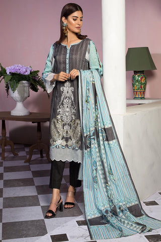 Warda Designer Collection - 3PC Lawn Embroidery 3819412