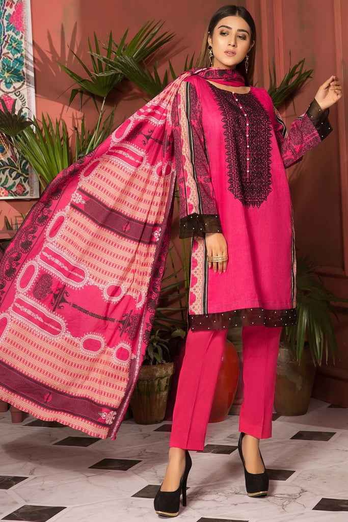 Warda Designer Collection - 3PC Lawn Kashmiri Embroidery 3819087