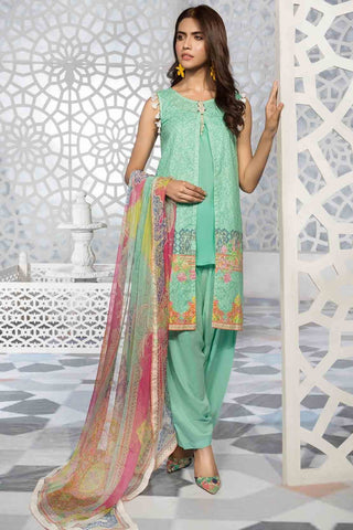 Warda Designer Collection - 3PC Digital Chikan Kari 3819253