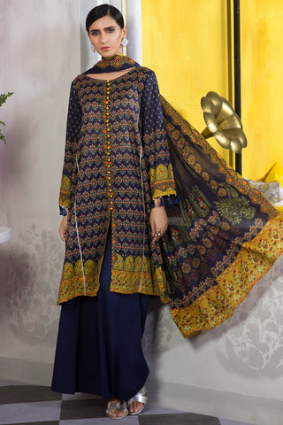 Warda Designer Collection - 2PC Lawn Print with Dupatta 2559357
