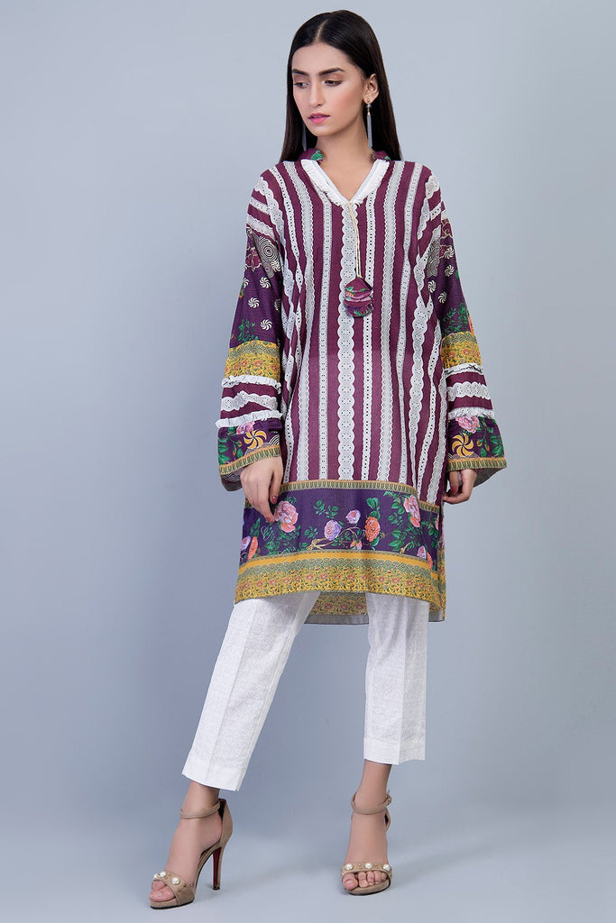 Warda Designer Collection - Single Shirt Lawn Print LS19067
