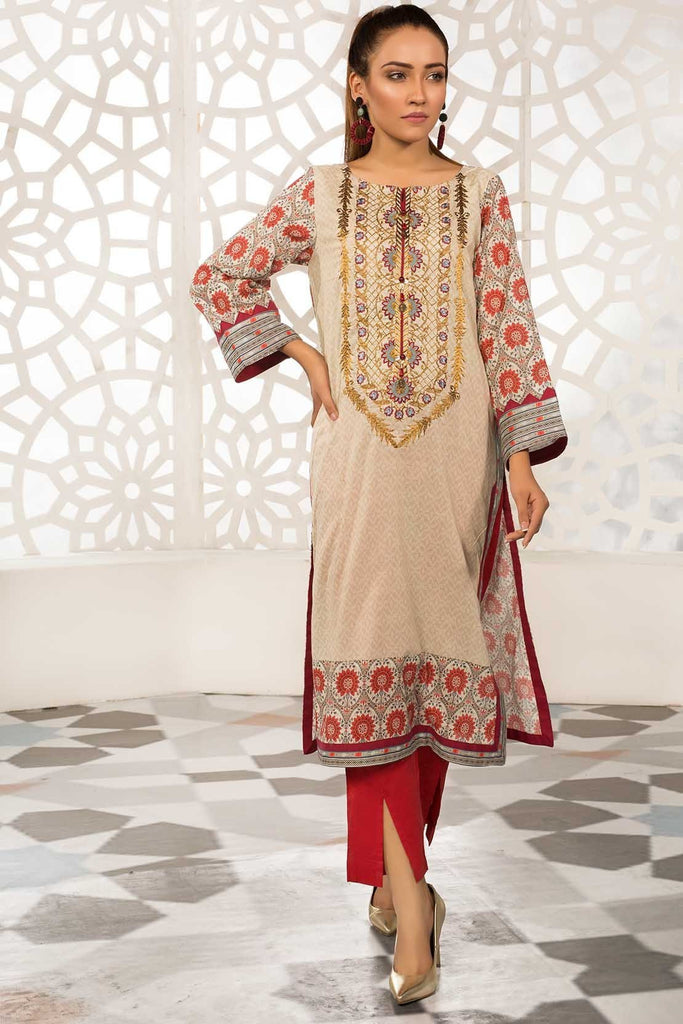 Warda Designer Collection - Single Shirt Lawn Embroidery 1309309