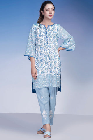 Warda Designer Collection - Single Shirt Lawn Chikan Kari LS18248
