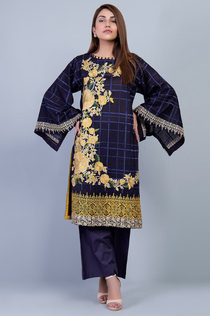 Warda Designer Collection - 2PC Solid Embroidery LS18199