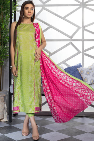 Warda Designer Collection - 3PC Lawn Print 7.5 Meters 389388A