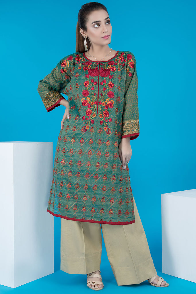 Warda Designer Collection - Formal Embroidered Shirt With Inner LPS1916