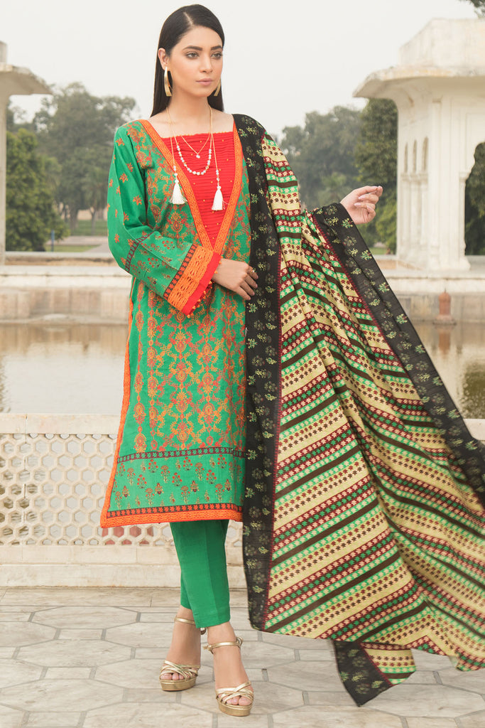 Warda Designer Collection - 3PC Khaddar Chikan Kari 3819767
