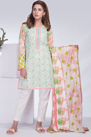 Warda Designer Collection - 3PC Lawn Print Chikan Kari LS18310