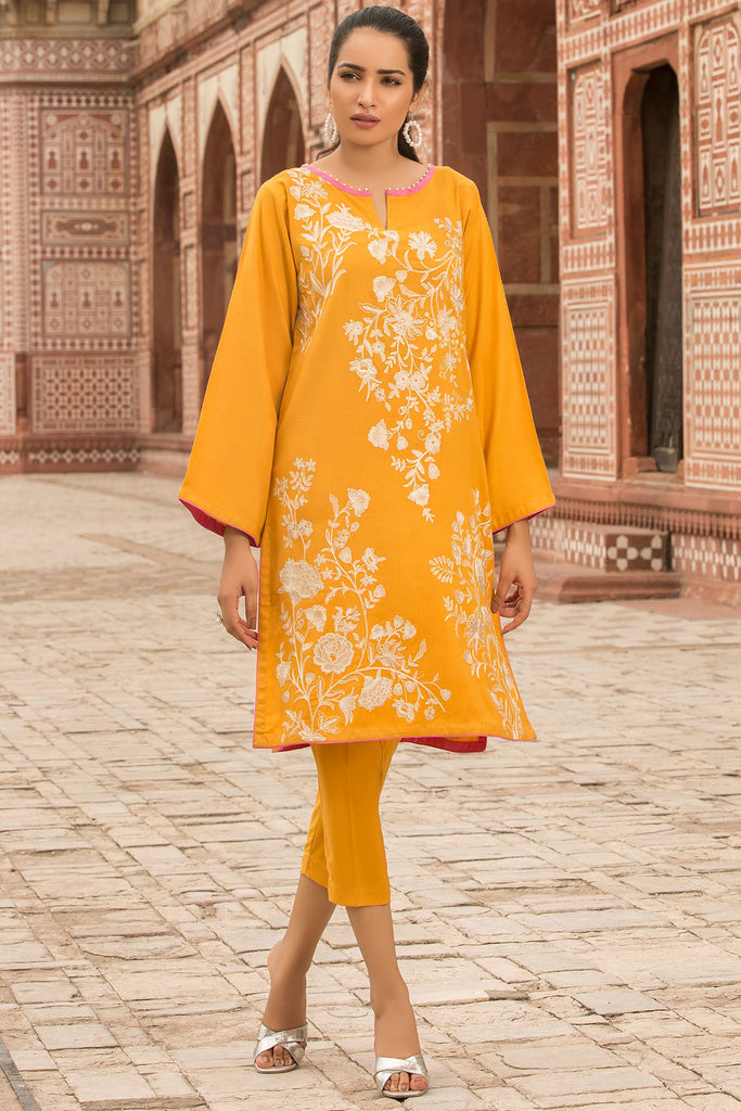 2PC Peach Embroidery 2559744 - Unstitched - Warda Designer Collection
