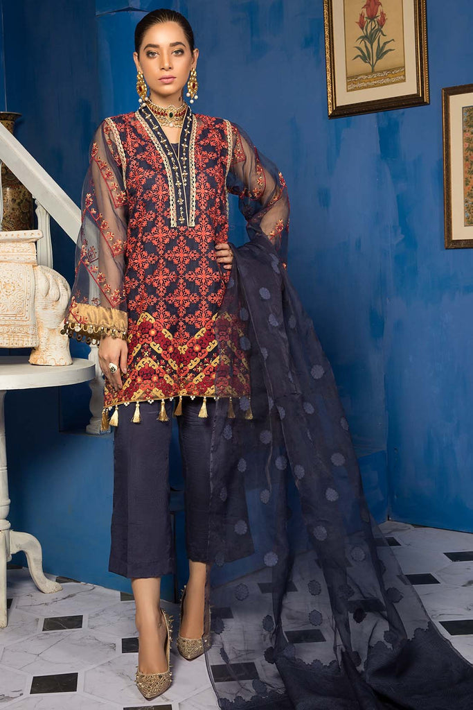 Warda Designer Collection - Mejestic Blue 3819459