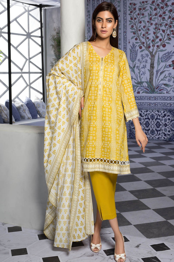 Warda Designer Collection - 3PC Lawn Print 7.5 Meters 389387A
