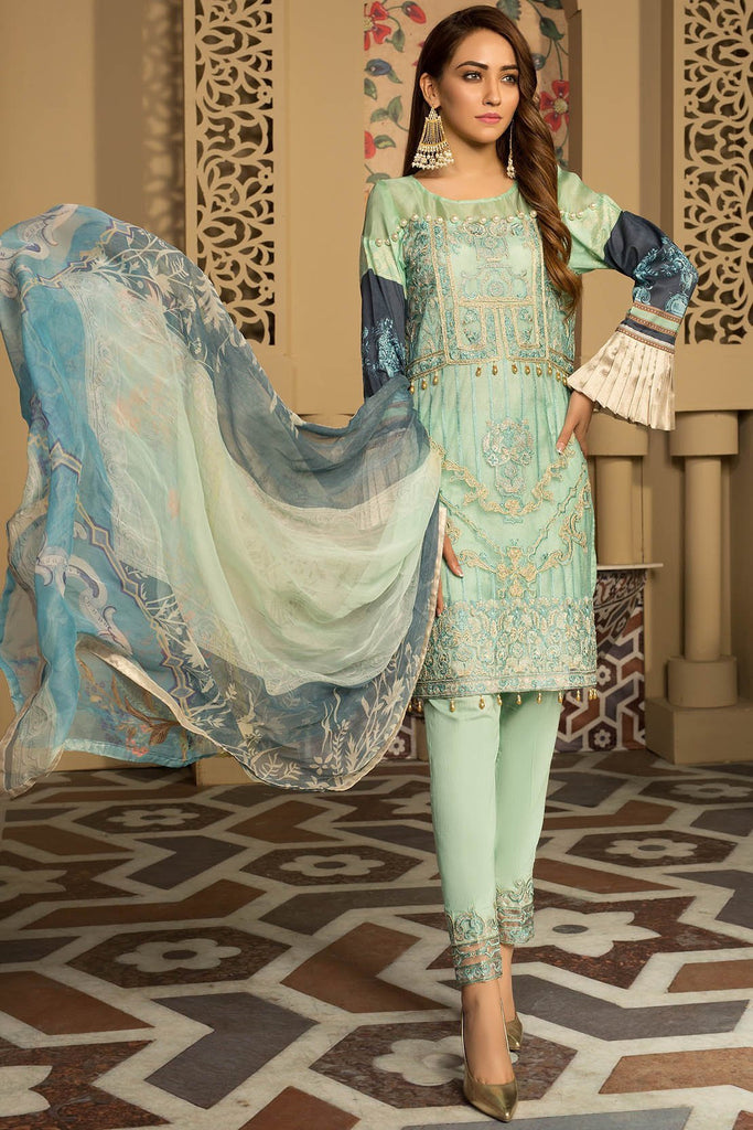 Warda Designer Collection - Melange Embroidery Pastoral Breeze 3819282
