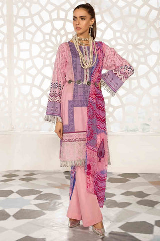 Warda Designer Collection - 2PC Lawn Embroidery with Chiffon Dupatta 259197A