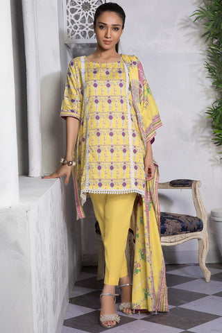 3PC Lawn Print 389208A - Unstitched - Warda Designer Collection