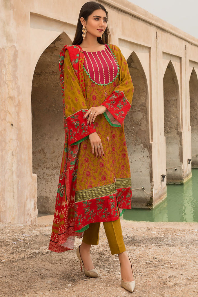 Warda Designer Collection - 2PC Khaddar Chikan Kari (Dupatta) 2559705