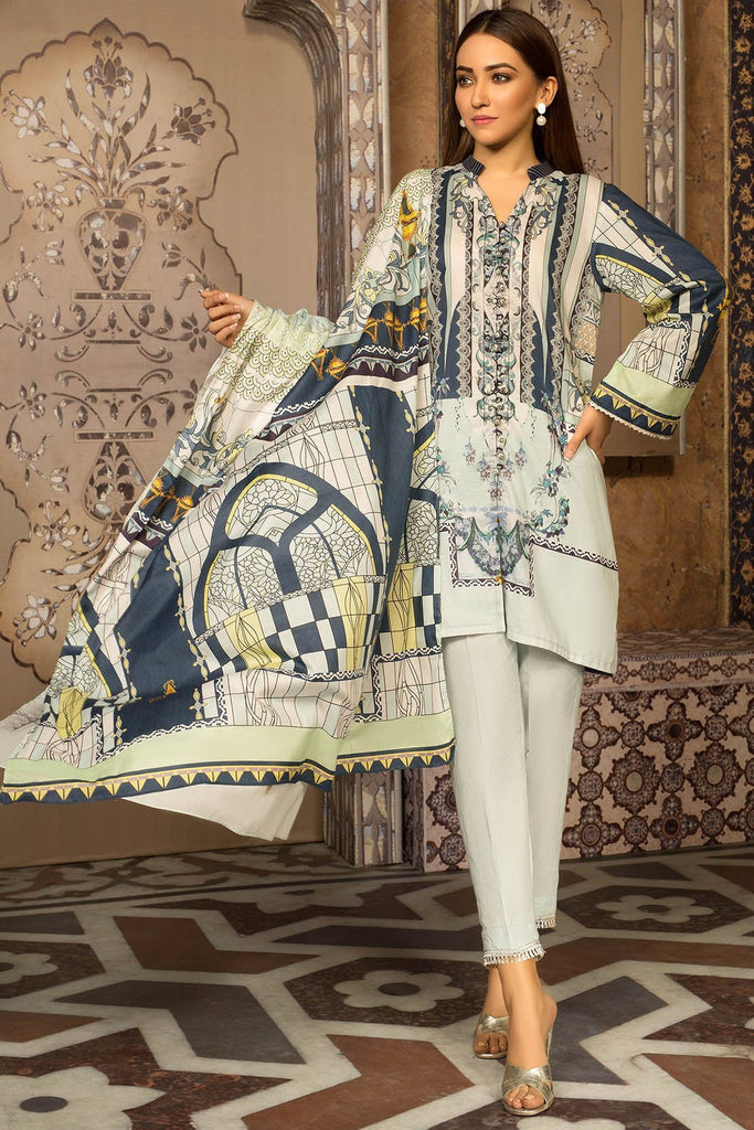 Warda Designer Collection - Melange Print Viridian Bice A 389289A