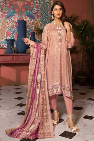 Warda Designer Collection - 3PC Lawn Print 7.5 Meters 3819034