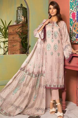 Unstitched - 3PC Lawn Embroidery 389057A - Warda Designer Collection
